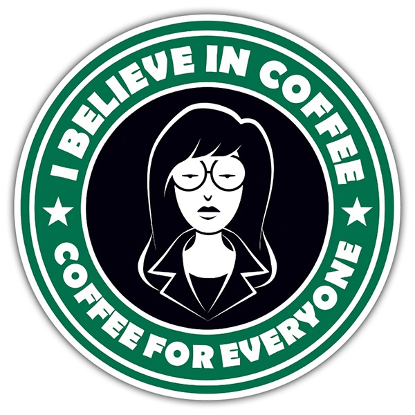 Adesivi per Auto e Moto: I believe in coffee
