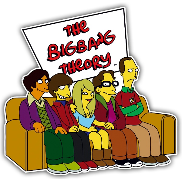 Adesivi per Auto e Moto: The Simpsons big bang theory