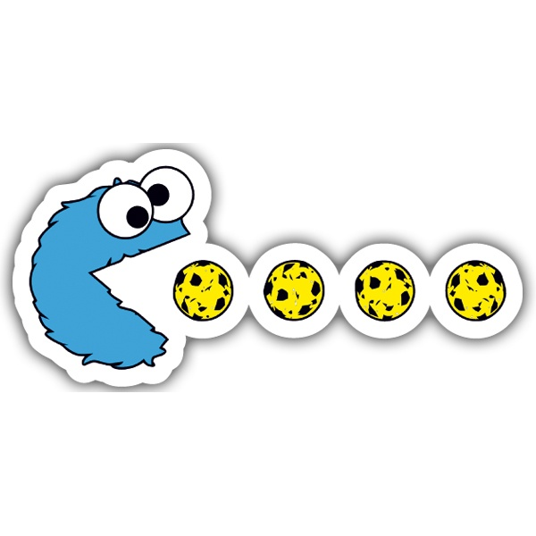 Adesivi per Auto e Moto: Pac-Man Cookie Monster