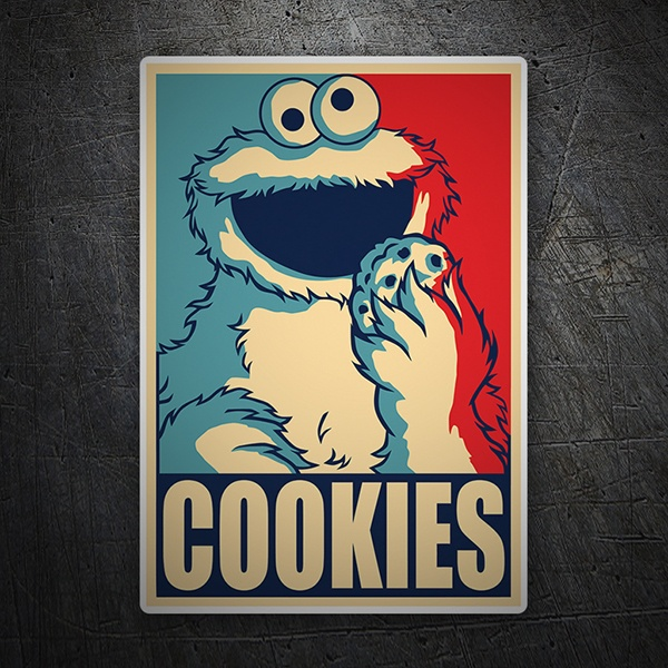 Adesivi per Auto e Moto: Cookie Monster Presidente
