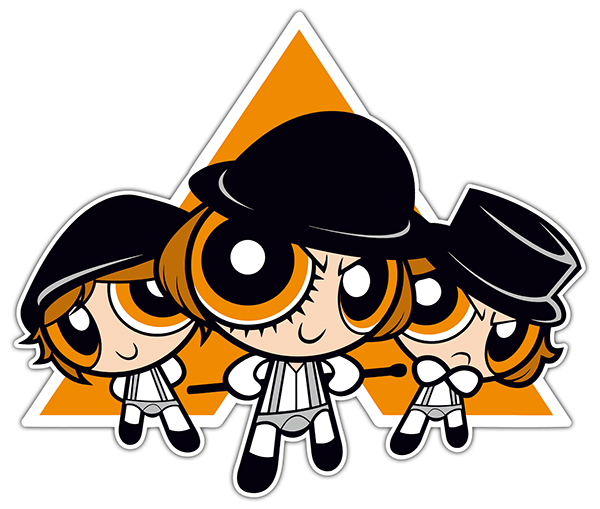 Adesivi per Auto e Moto: Ragazze di Powerpuff - A Clockwork Orange