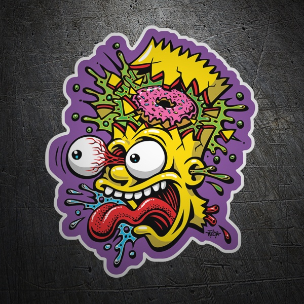 Adesivi per Auto e Moto: Bart Simpson decomposto