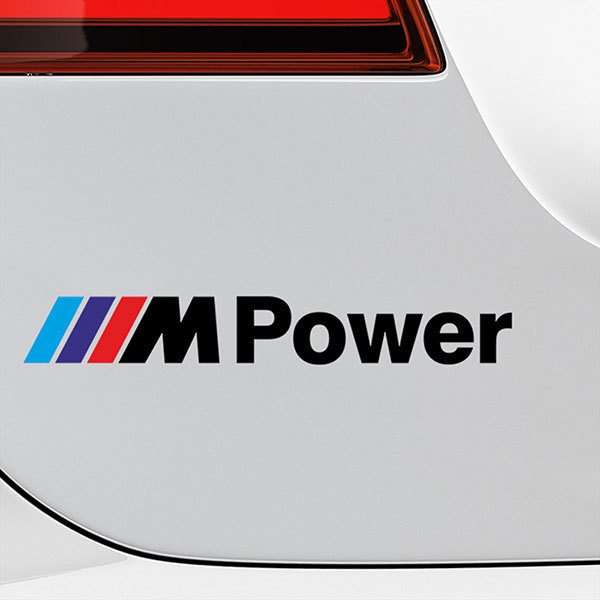 Adesivi per Auto e Moto: BMW Power Nero