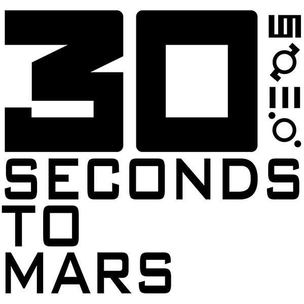 Adesivi per Auto e Moto: 30 Second To Mars