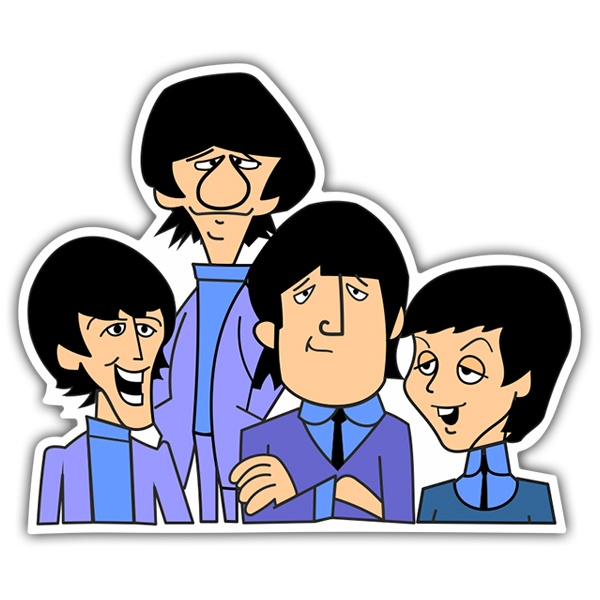 Adesivi per Auto e Moto: The Beatles Animated