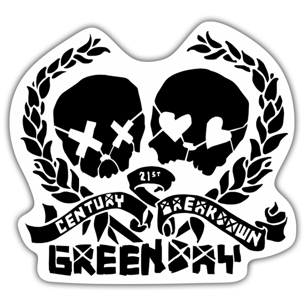 Adesivi per Auto e Moto: Green Day Century Breakdown