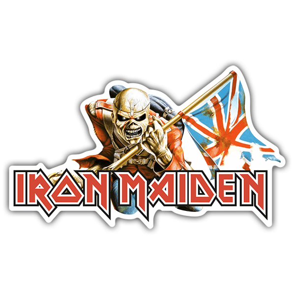 Adesivi per Auto e Moto: Iron Maiden - The Trooper