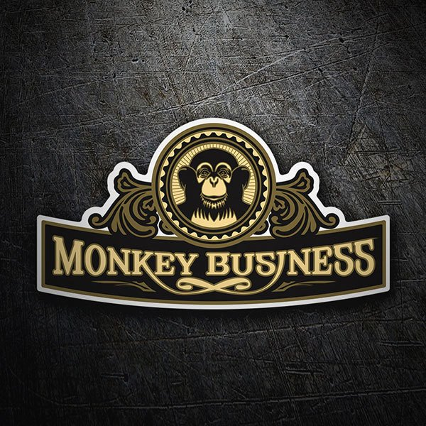 Adesivi per Auto e Moto: The Black Eyed Peas - Monkey Business