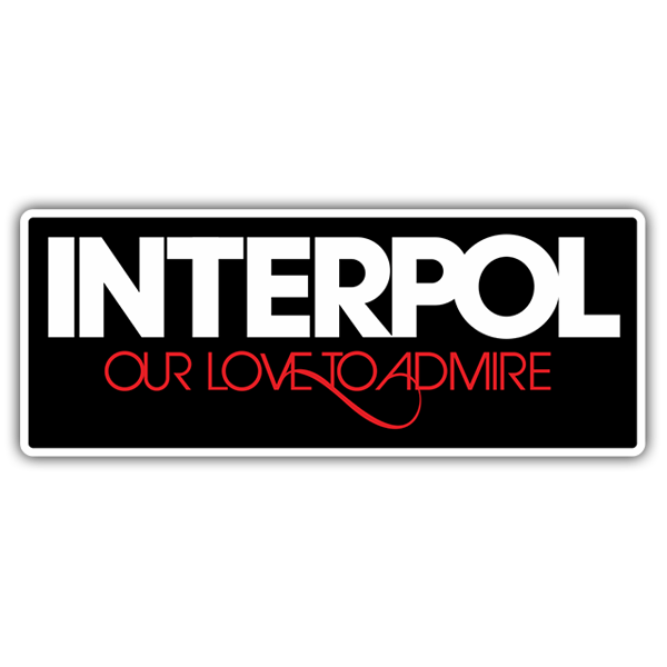 Adesivi per Auto e Moto: Interpol Our Love to Admire