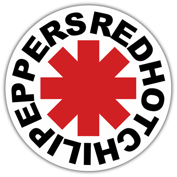 Adesivi per Auto e Moto: Red Hot Chili Peppers White