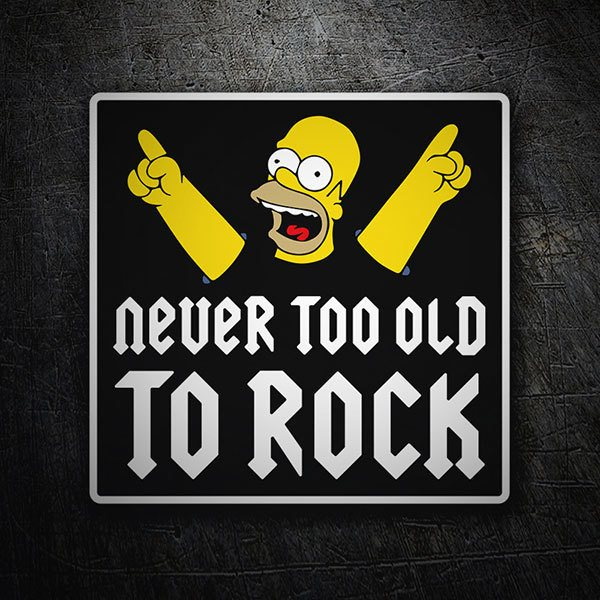 Adesivi per Auto e Moto: Homer Never too old to rock