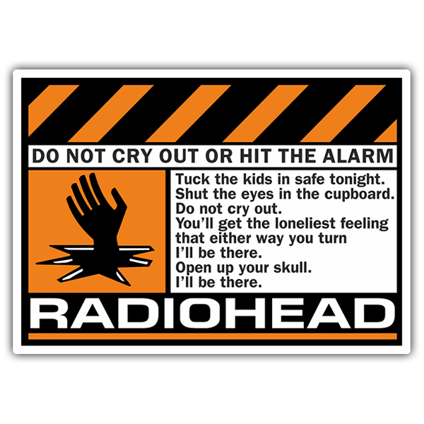 Adesivi per Auto e Moto: Radiohead - Do Not Cry