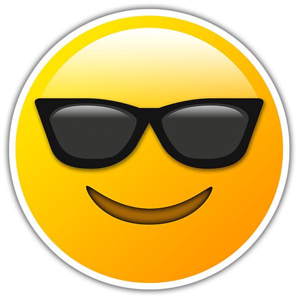 Adesivi Per Auto E Moto Faccina Sorridente Con Occhiali Da