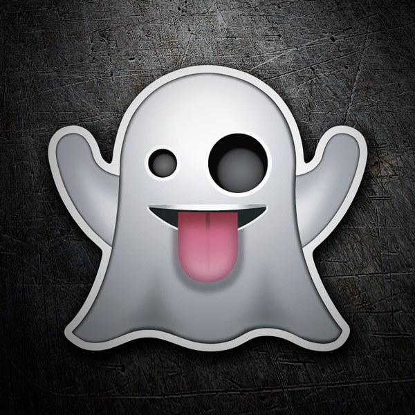Armario Garaje Plastico ~ Adesivo emoji Fantasma