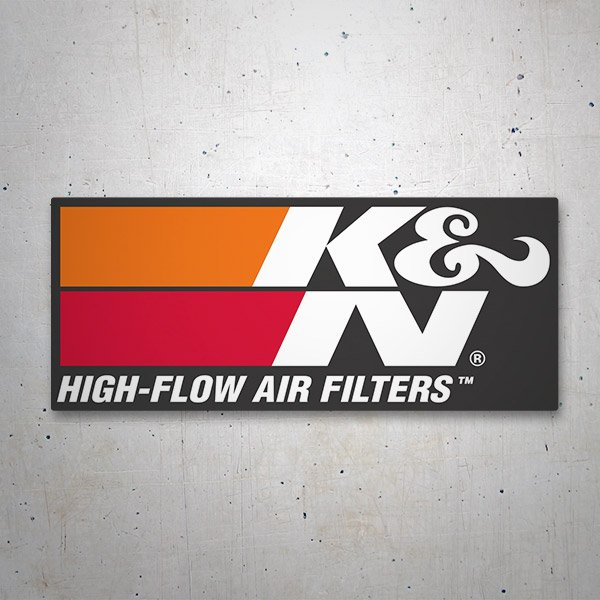 Adesivi per Auto e Moto: K&N High-Flow Air Filters 2