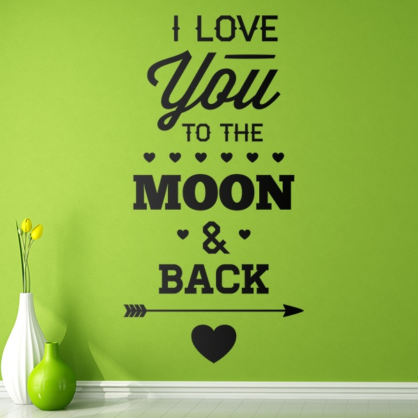 Adesivi Murali: I Love You to the Moon