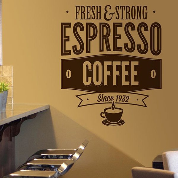 Adesivi Murali: Fresh & Strong Espresso Coffee