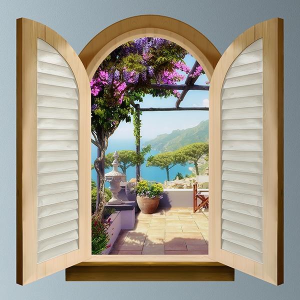 Finestra terrazza sul mare - Finestra a due archi ...