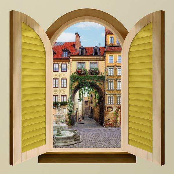 Finestra porta alla citt vecchia - Larghezza porta finestra ...