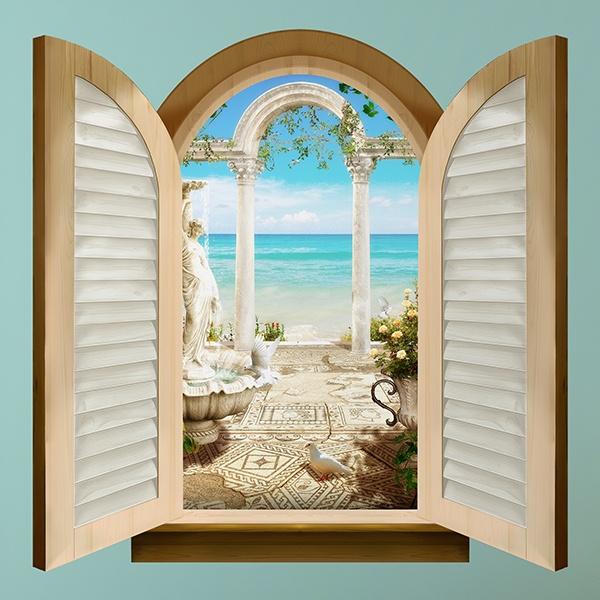 Finestra archi con vista sul mare - Quadri con finestre ...