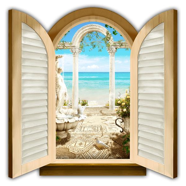 Finestra archi con vista sul mare for Finestra 50x100