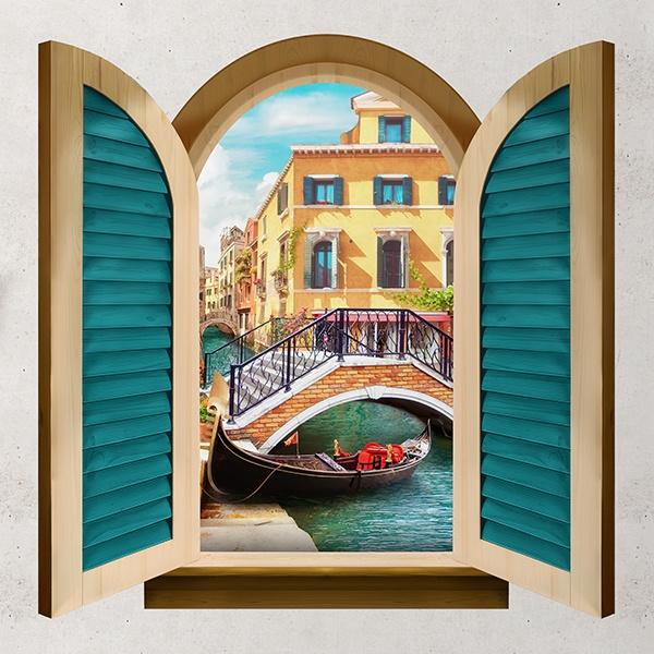 Finestra ponte sul canale di venezia - Finestra italiana ...