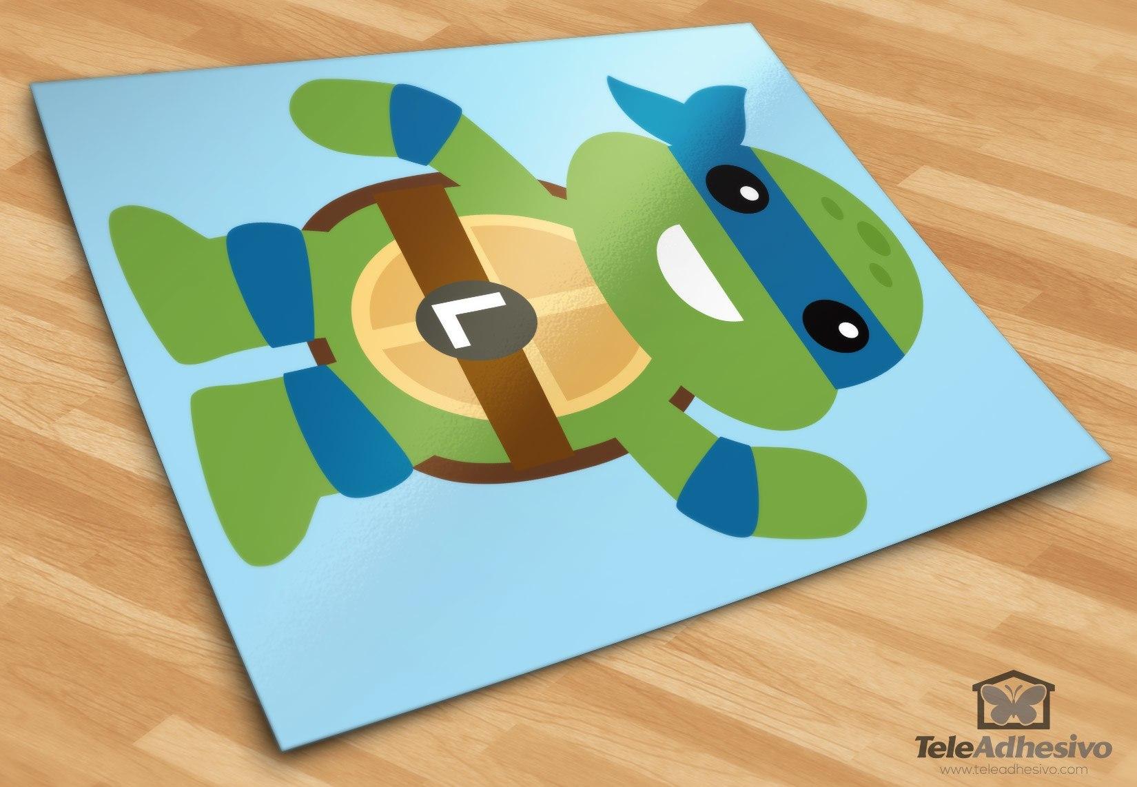 Adesivo murale bambini tartaruga ninja leonardo.
