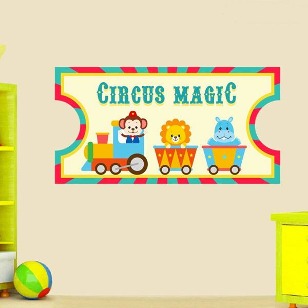 Adesivi per Bambini: Ticket Circus Magic