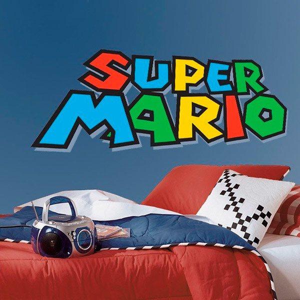 Adesivi Murali Super Mario.Adesivo Murale Bambini Gioco Di Super Mario Stickersmurali Com