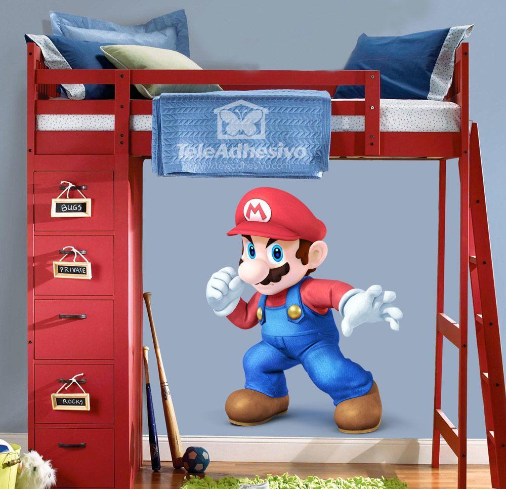 Adesivi Murali Super Mario.Adesivo Murale Bambini Super Mario Stickersmurali Com