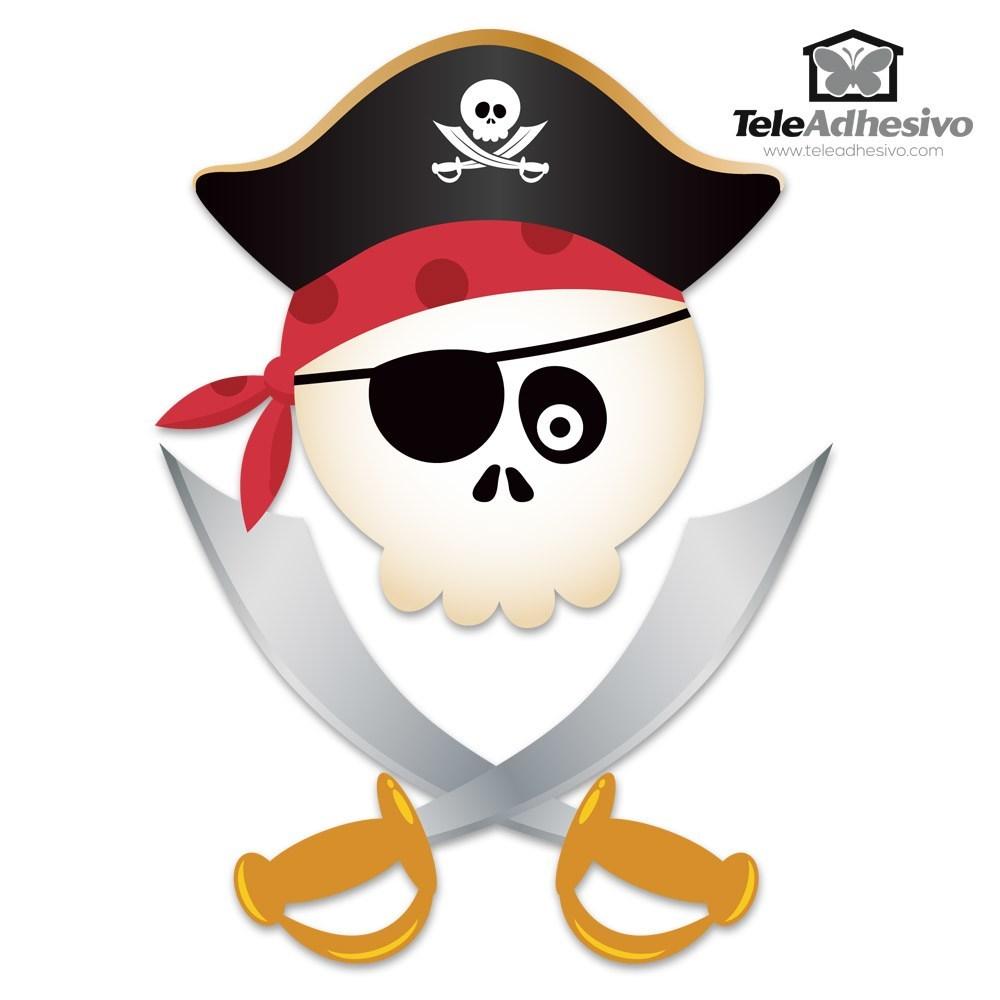 Immagini Di Teschio Pirati adesivi per bambini bambini teschio pirata