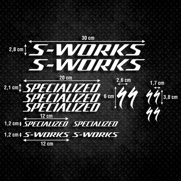 Adesivi per Auto e Moto: Moto Kit Specialized S-Works