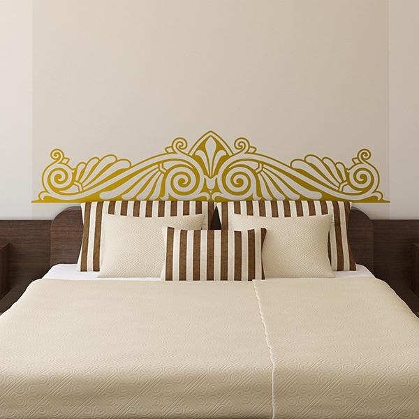 Sticker murale testiere letto ornamentale - Testiere letto imbottite a muro ...
