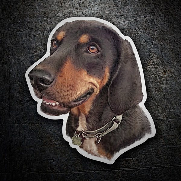 Adesivo cane bassotto tedesco stickersmurali.com