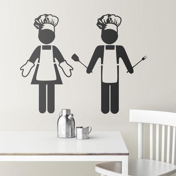 Adesivo murale per la cucina chefs for Stickers murali cucina