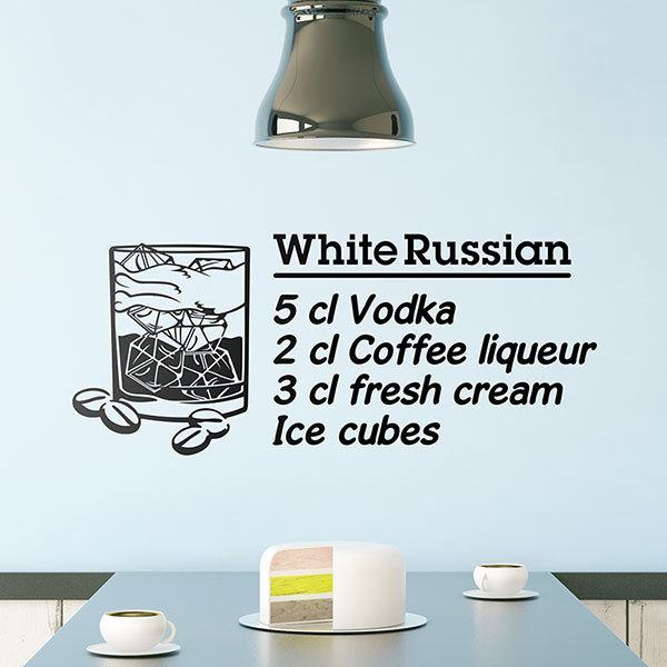 Adesivi Murali: Cocktail White Russian - inglese