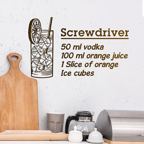 Adesivi Murali: Cocktail Screwdriver - inglese