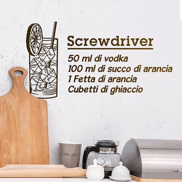 Adesivi Murali: Cocktail Screwdriver - italiano