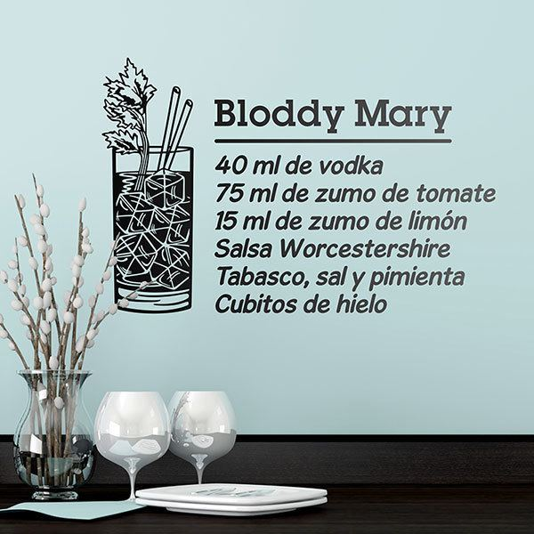 Adesivi Murali: Cocktail Bloddy Mary - spagnolo