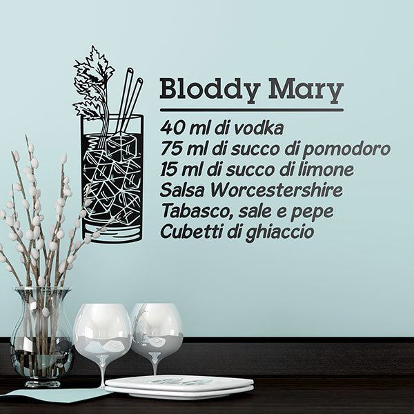 Adesivi Murali: Cocktail Bloddy Mary - italiano