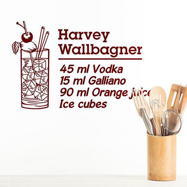 Adesivi Murali: Cocktail Harvey Wallbagner - inglese