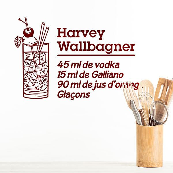 Adesivi Murali: Cocktail Harvey Wallbagner - francese