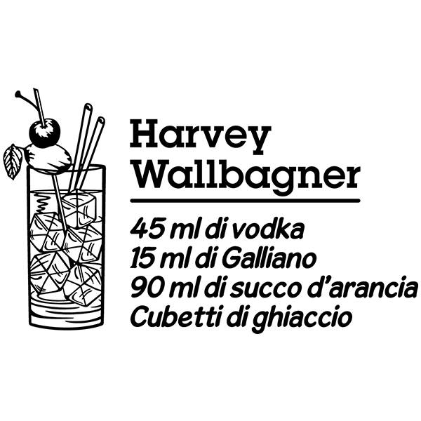 Adesivi Murali: Cocktail Harvey Wallbagner - italiano