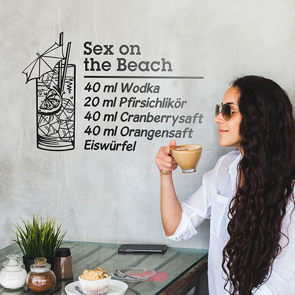 Adesivi Murali: Cocktail Sex on the Beach - tedesco