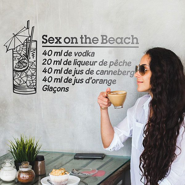 Adesivi Murali: Cocktail Sex on the Beach - francese