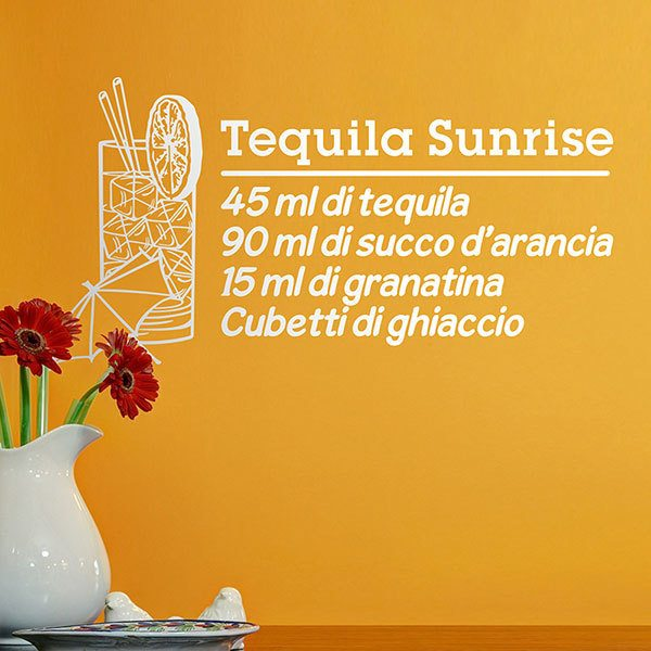Adesivi Murali: Cocktail Tequila Sunrise - italiano