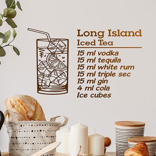 Adesivi Murali: Cocktail Long Island - inglese