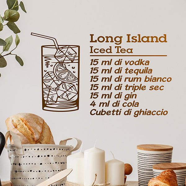 Adesivi Murali: Cocktail Long Island - italiano