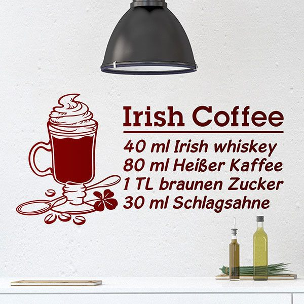 Adesivi Murali: Cocktail Irish Coffee - tedesco