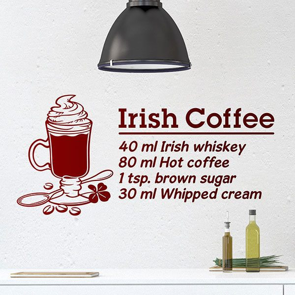 Adesivi Murali: Cocktail Irish Coffee - inglese